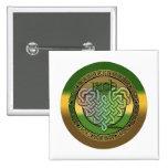 Celtic knot heart button