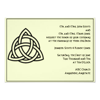 Celtic Knot in Black and Mythic Ivory Wedding 13 Cm X 18 Cm Invitation Card