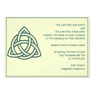 Celtic Knot in Teal Ivory Wedding Invitation