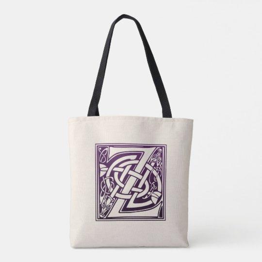 Knot Z Purple BagZazzle uk Celtic Initial Tote co BredCxo