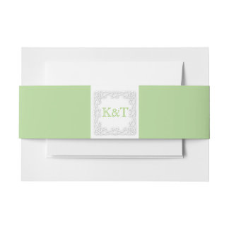 Celtic Knot Initials - Customize Background color Invitation Belly Band
