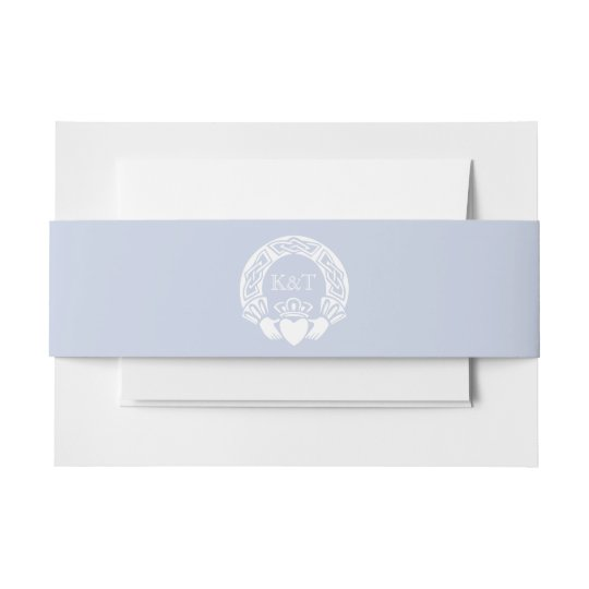 Celtic Knot Initials - Light Blue Invitation Belly