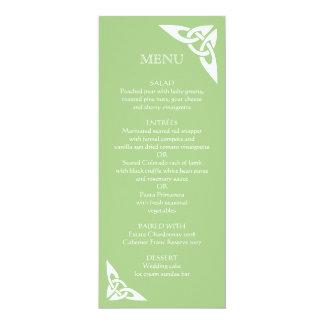 Celtic Knot Initials - Menu Card green