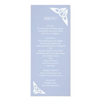 Celtic Knot Initials - Menu Card light blue
