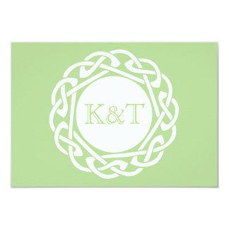 Celtic Knot Initials - RSVP - Circular Green Card