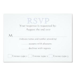 Celtic Knot Initials - RSVP - light blue Card