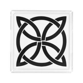 celtic knot ireland ancient symbol pagan irish acrylic tray