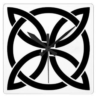 celtic knot ireland ancient symbol pagan irish square wall clock