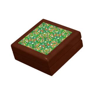 Celtic Knot Irish Braid Pattern Green Pretty Small Square Gift Box