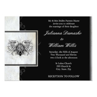"Celtic Knot Irish Gaelic Wedding Invitation 5.5"" X 7.5"" Invitation Card"