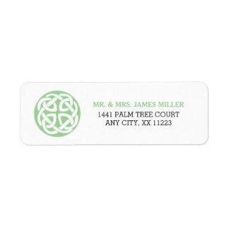 Celtic Knot Irish wedding party address 3991