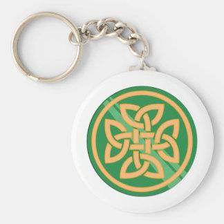 Celtic Knot Basic Round Button Key Ring