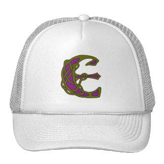 Celtic Knot letter initial monogram E Hats