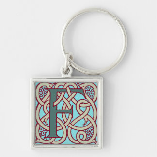 Celtic Knot letter initial monogram F Key Chain