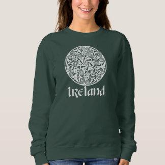 Celtic Knot Medallion Round Design, Irish Artwork Sweatshirt
