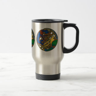 Celtic Knot Mugs, Hound & Bird Stainless Steel Travel Mug