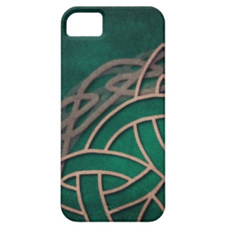 celtic knot on green background iPhone 5 case
