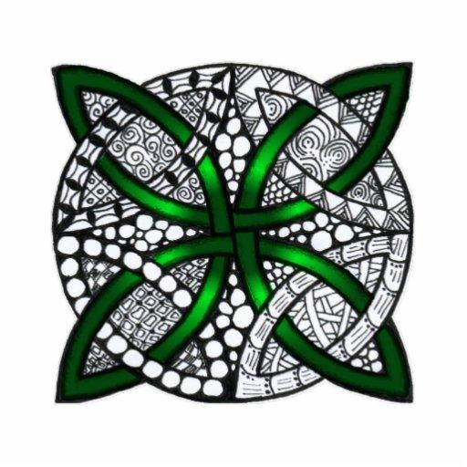 Celtic Knot Original Art Green Photo Cutout