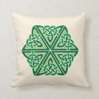 Celtic Knot Pattern 1 - Green Cushion