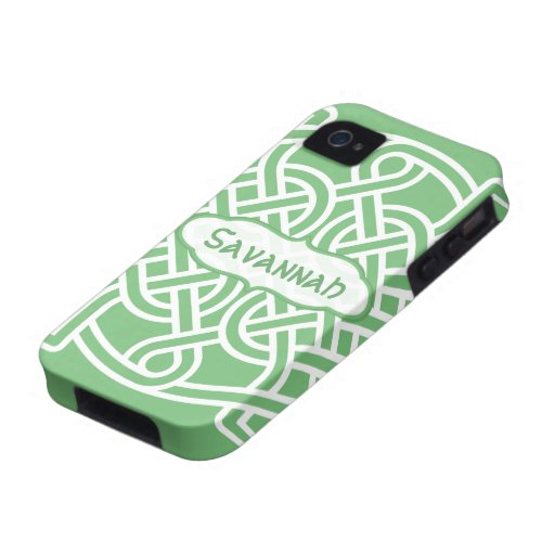 Celtic Knot Pattern Any Color Personalized iPhone Vibe iPhone 4 Case