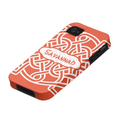 Celtic Knot Pattern Any Color Personalized iPhone iPhone 4/4S Cases