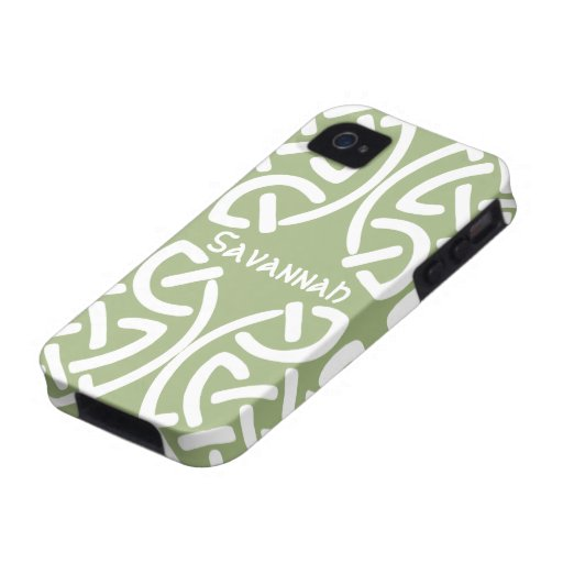 Celtic Knot Pattern Any Color Personalized iPhone iPhone 4/4S Covers