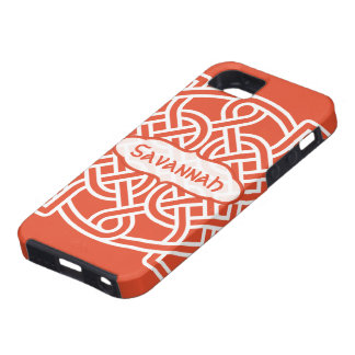 Celtic Knot Pattern Any Color Personalized iPhone Tough iPhone 5 Case