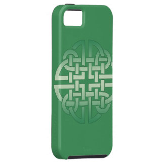 Celtic Knot Pattern on editable background colour iPhone 5 Case