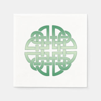 Celtic Knot Pattern on editable background colour Disposable Napkin
