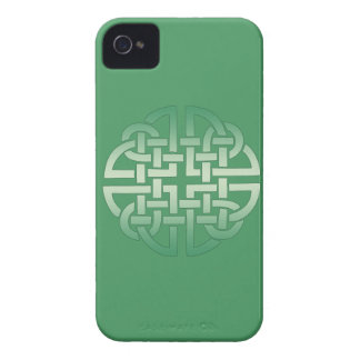 Celtic Knot Pattern on editable background colour iPhone 4 Case-Mate Case