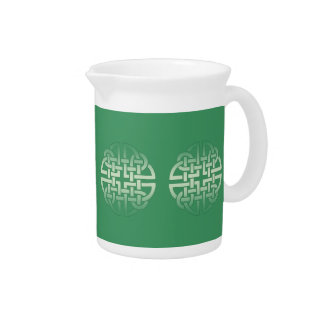 Celtic Knot Pattern on editable background colour Pitcher