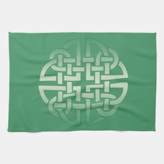 Celtic Knot Pattern on editable background colour Towels