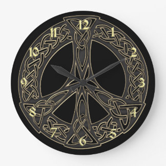 Celtic Knot Peace Sign Clock