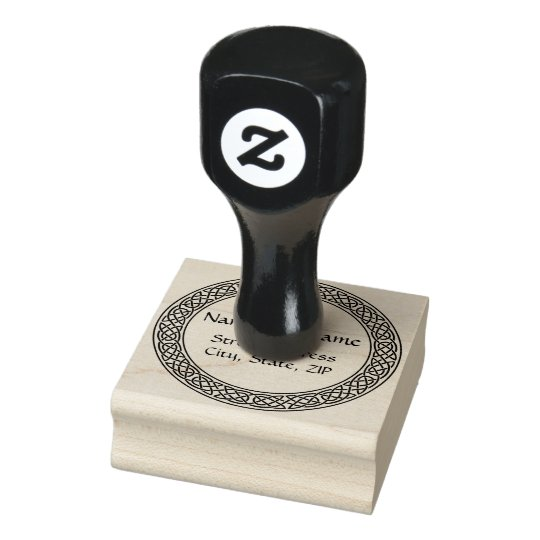 Celtic Knot personalised rubber stamp