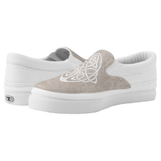 Celtic knot printed shoes