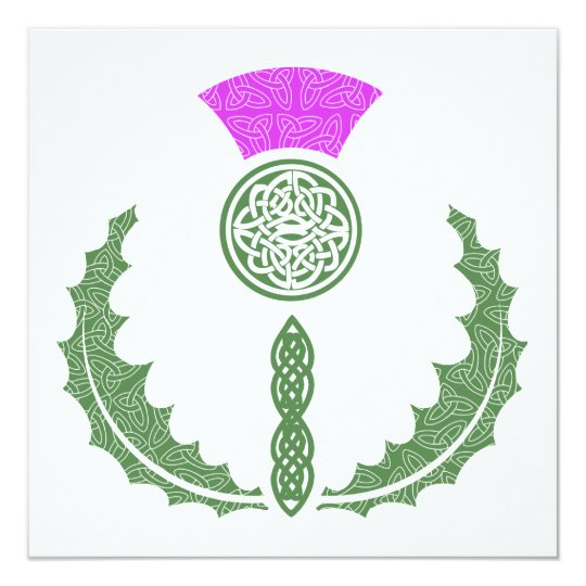 Celtic Knot Scottish Thistle Save the Date Card