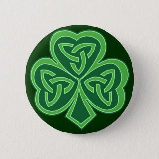 Celtic Knot Shamrock 6 Cm Round Badge