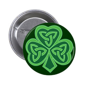 Celtic Knot Shamrock 6 Cm Round Badge
