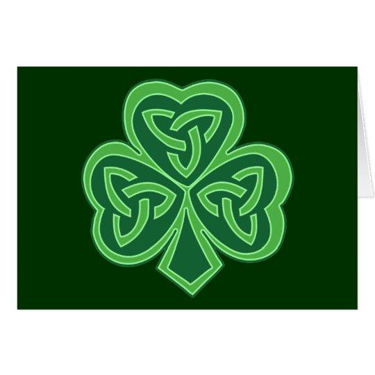 Celtic Knot Shamrock Card