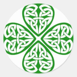 Celtic Knot Shamrock Classic Round Sticker