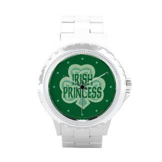 Celtic Knot Shamrock Irish Princess Wrist Watch