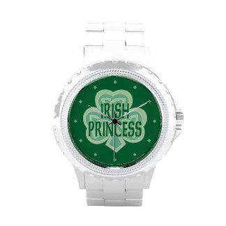 Celtic Knot Shamrock Irish Princess Wrist Watch
