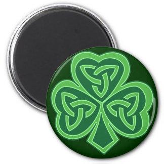 Celtic Knot Shamrock 6 Cm Round Magnet