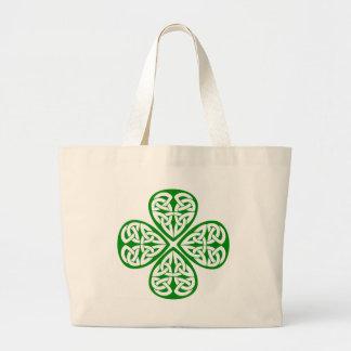 Celtic Knot Shamrock Tote Bags