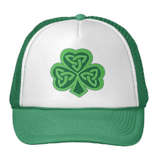 Celtic Knot Shamrock Trucker Hat