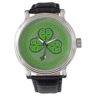 Celtic Knot Shamrock Watch