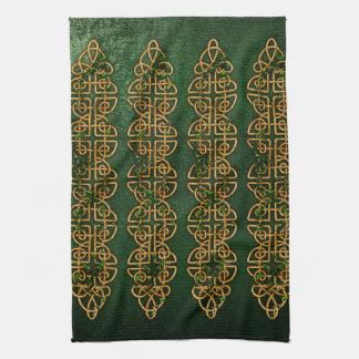 Celtic Knot Strips Tea Towel