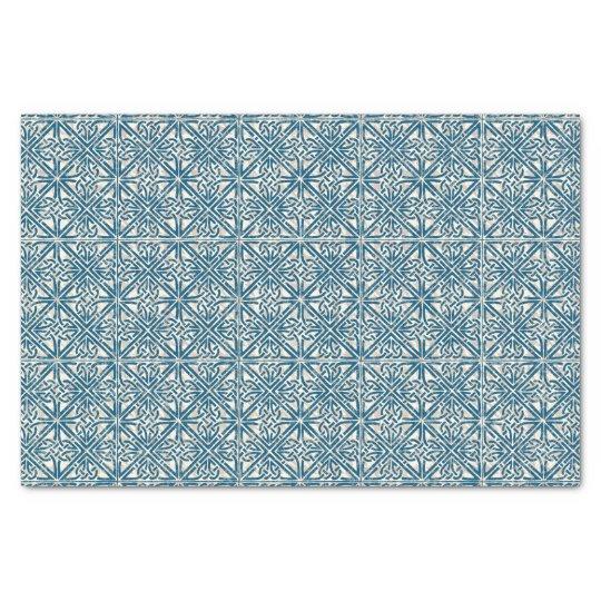 Celtic Knot Teal Blue Pattern Tissue Paper