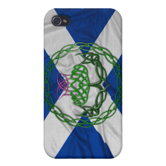 Celtic Knot Thistle And Flag iPhone 4 Covers