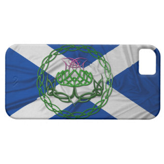 Celtic Knot Thistle And Flag iPhone 5 Cases
